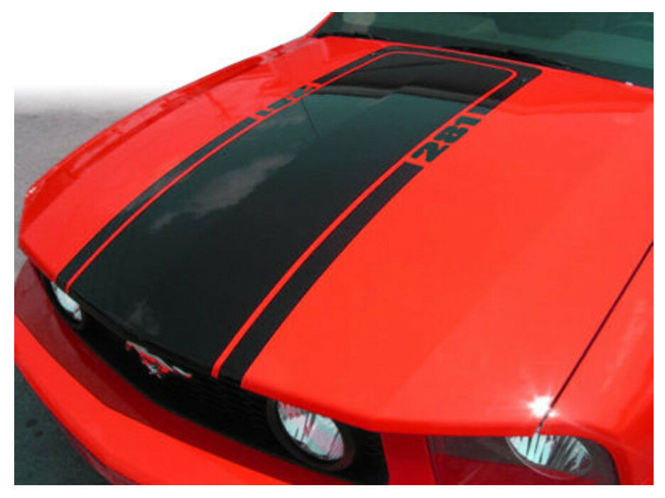 Ford Racing Decal 2005-2009 Ford Mustang Mach1 Hood Stripe Blackout Decal ...