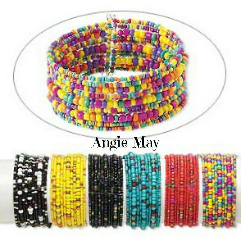 wholesale 3 colorful handmade seed bead cuff bracelets ebay