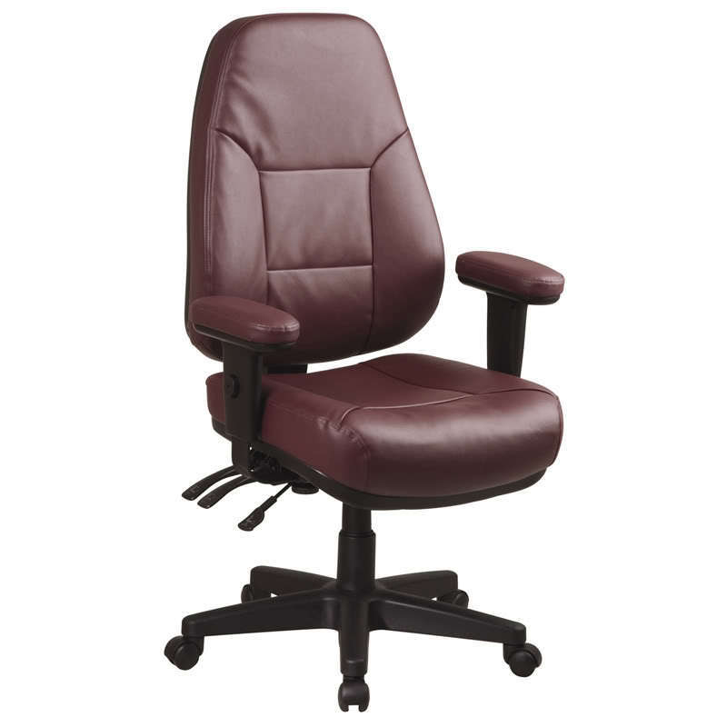 ERGONOMIC HIGH BACK LEATHER MANAGERS DESK OFFICE CHAIR | eBay