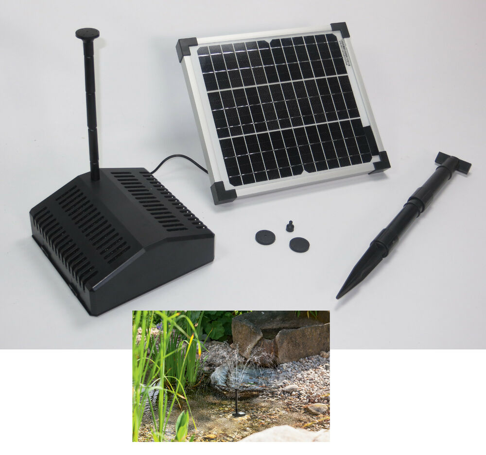 10 w solar gartenteich pumpe filter teich pumpenset tauch springbrunnen fontana ebay. Black Bedroom Furniture Sets. Home Design Ideas