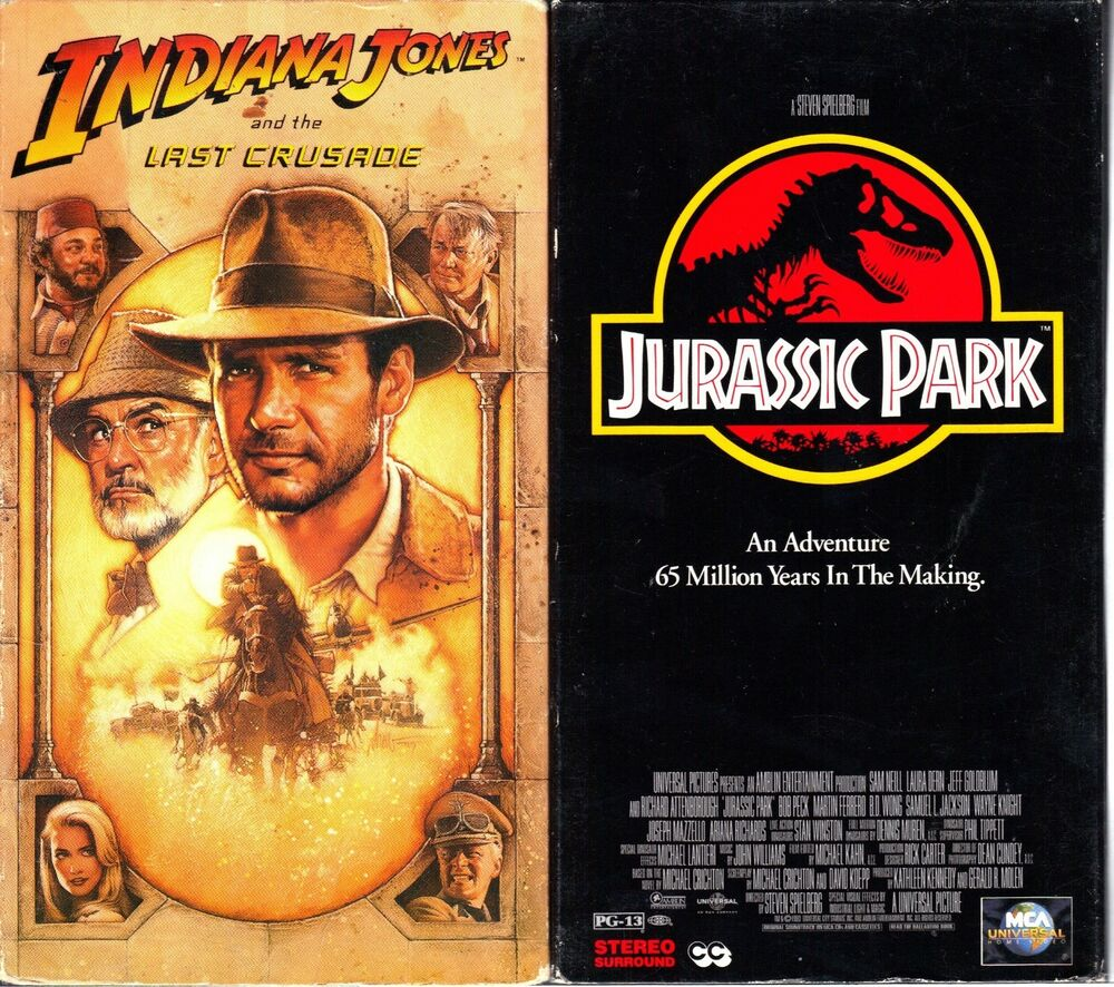 Where Can I Sell My Vhs Tapes >> Indiana Jones and the Last Crusade (VHS) & Jurassic Park ...