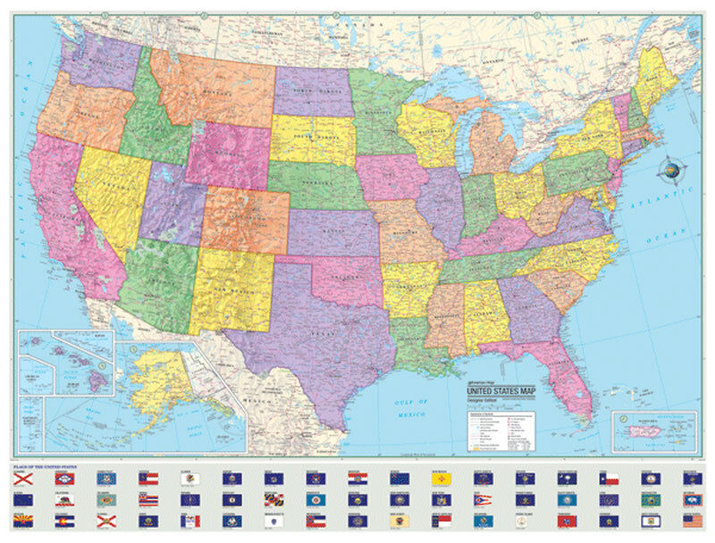 United States Map EBay - Large us road wall map
