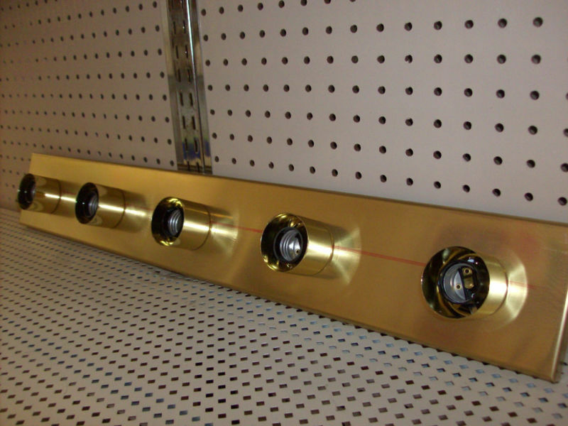 brass strip light
