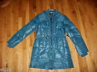 A.N.A. The Puffer Womens L Blue Down & Feather Coat Jacket $250