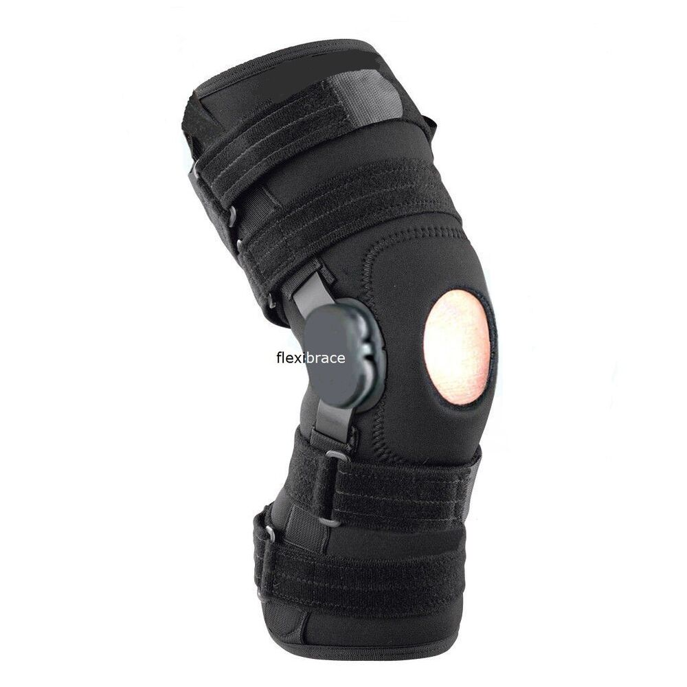 Hinged Knee Brace : New flexibrace wrap around hinged knee brace support