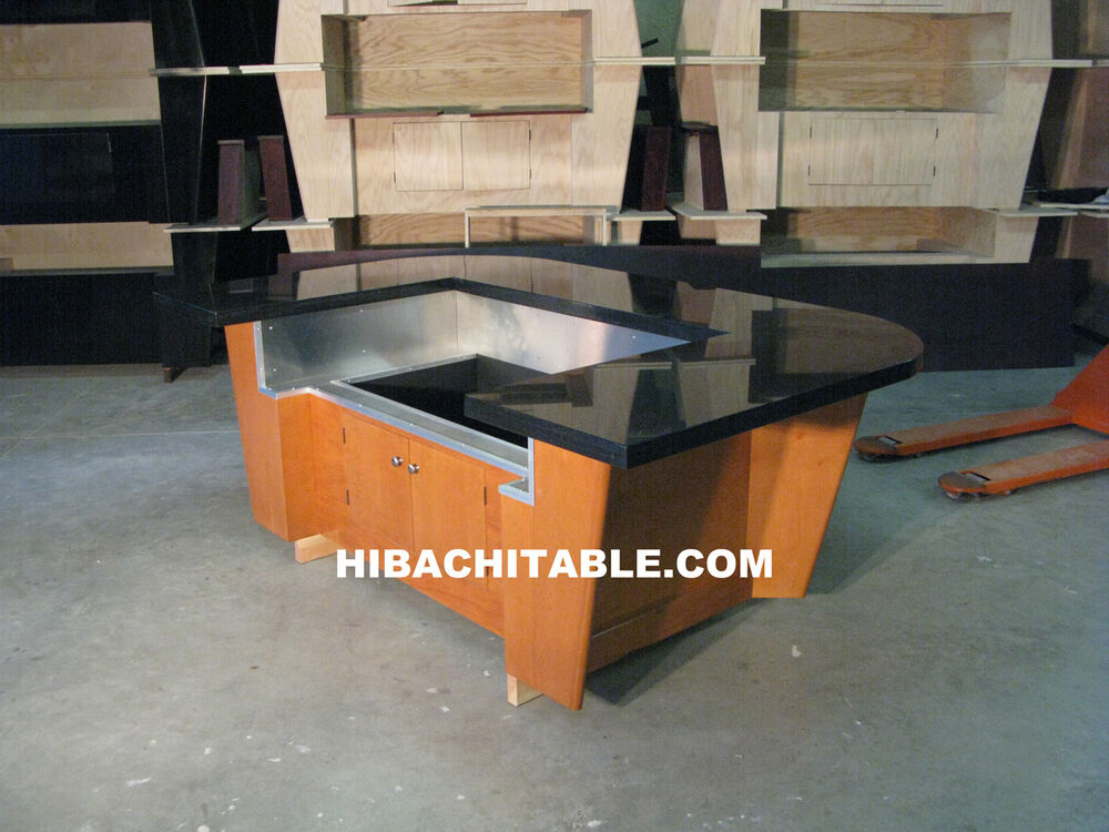 teppanyaki table teppan table hibachi table ebay. Black Bedroom Furniture Sets. Home Design Ideas