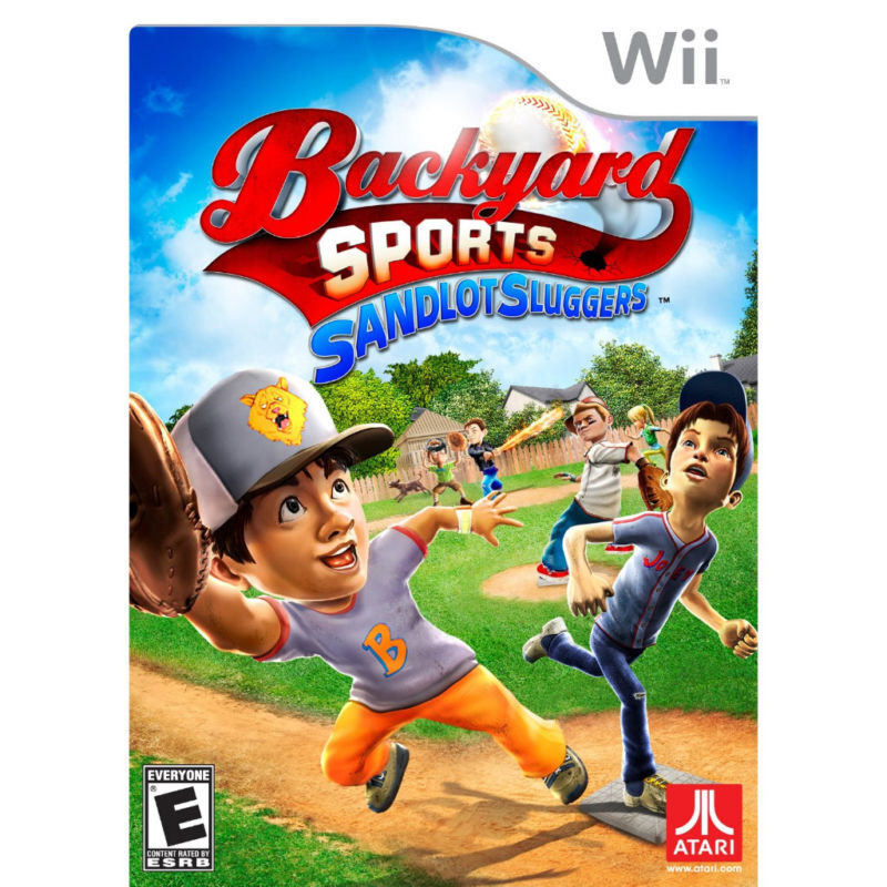 Backyard Sports Sandlot Sluggers Wii Baseball NEW SEALED