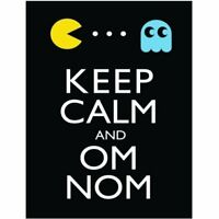 P2463 KEEP CALM AND CARRY ON OM NOM POSTER BRAND NEW
