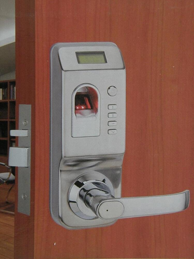 Security keyless fingerprint biometric door lock w log ebay for 1 touch fingerprint door lock