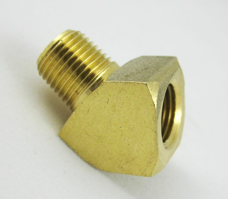 Pc brass pipe deg street elbow fitting npt boat