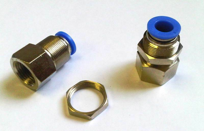 Pc push to connect bulkhead female fittings od npt