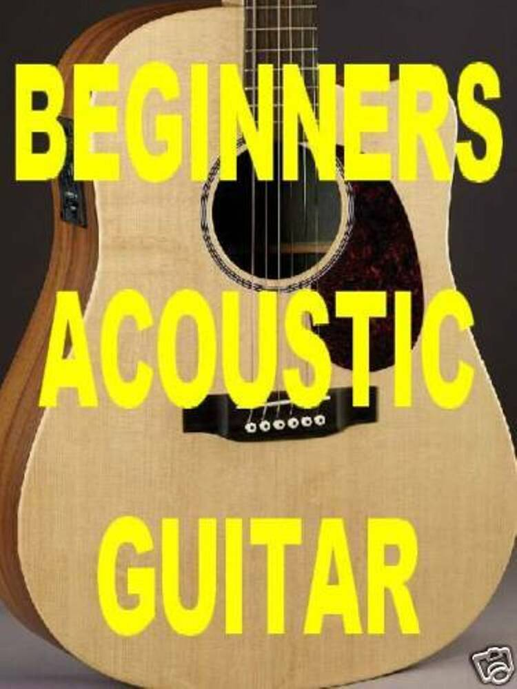 beginners acoustic guitar lessons dvd video learn fast learn chords immediately ebay. Black Bedroom Furniture Sets. Home Design Ideas
