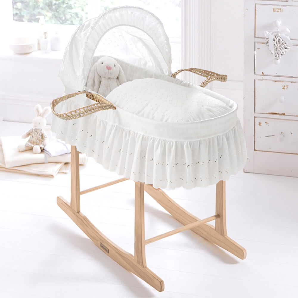 new clair de lune broderie anglaise white baby moses. Black Bedroom Furniture Sets. Home Design Ideas