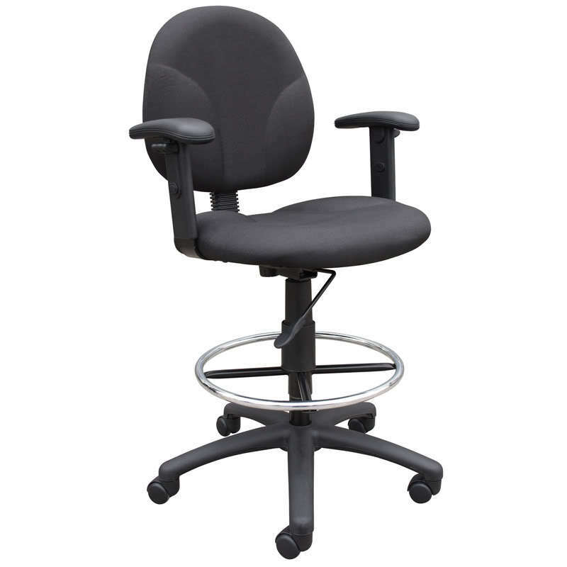 Black Medical Drafting Office Chair Stool Ebay