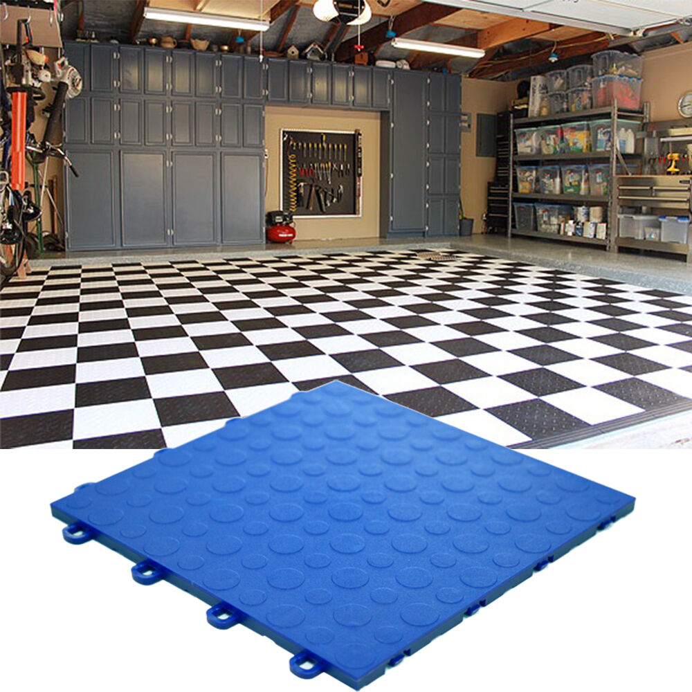 DO IT YOURSELF BASEMENT FLOOR TILE COIN ROYAL BLUE