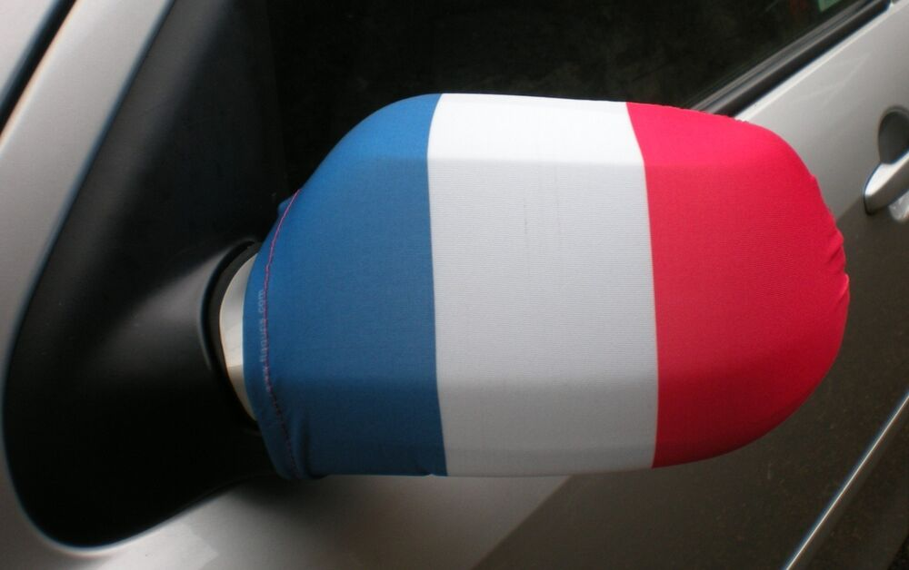 car wing mirror socks flags covers flag ups france french tricolour ebay. Black Bedroom Furniture Sets. Home Design Ideas