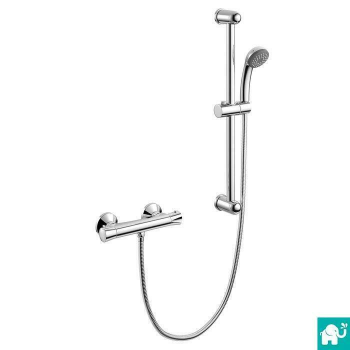 Thermostatic bathroom mixer valve bar shower set sp4008 ebay for Bathroom picture sets