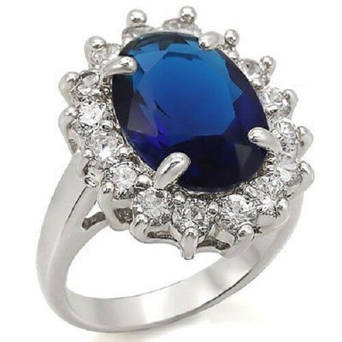 New Royal Engagement Wedding Ring Princess Cubic Zirconia ...