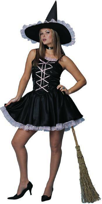 Sweet Witch Black Pink Dress Sexy Teen Adult Costume  Ebay-7526
