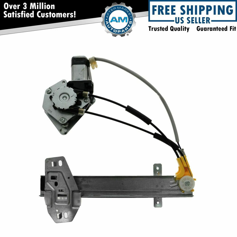Power window regulator motor rear lh left driver side for Window motor repair cost