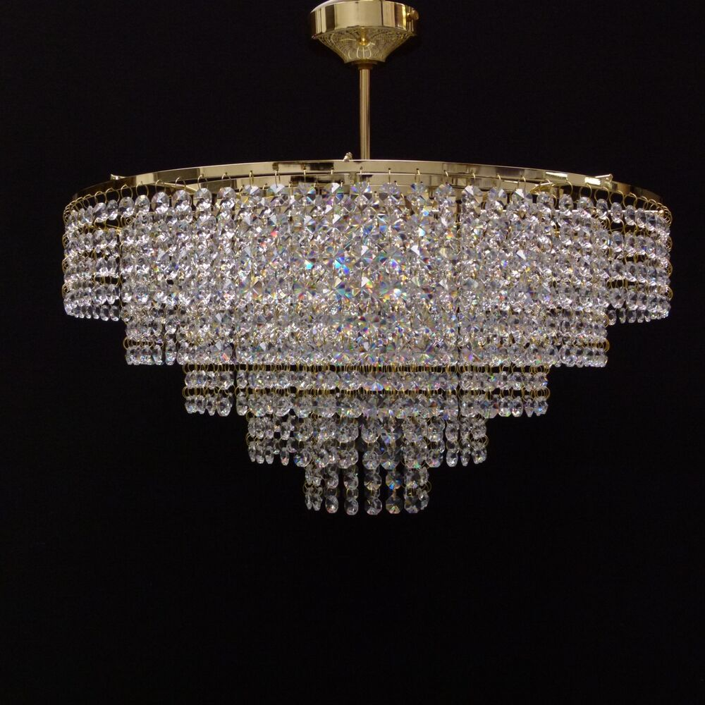 50cm lead chandelier ceiling light lighting l fitting gold m moss 50 ebay