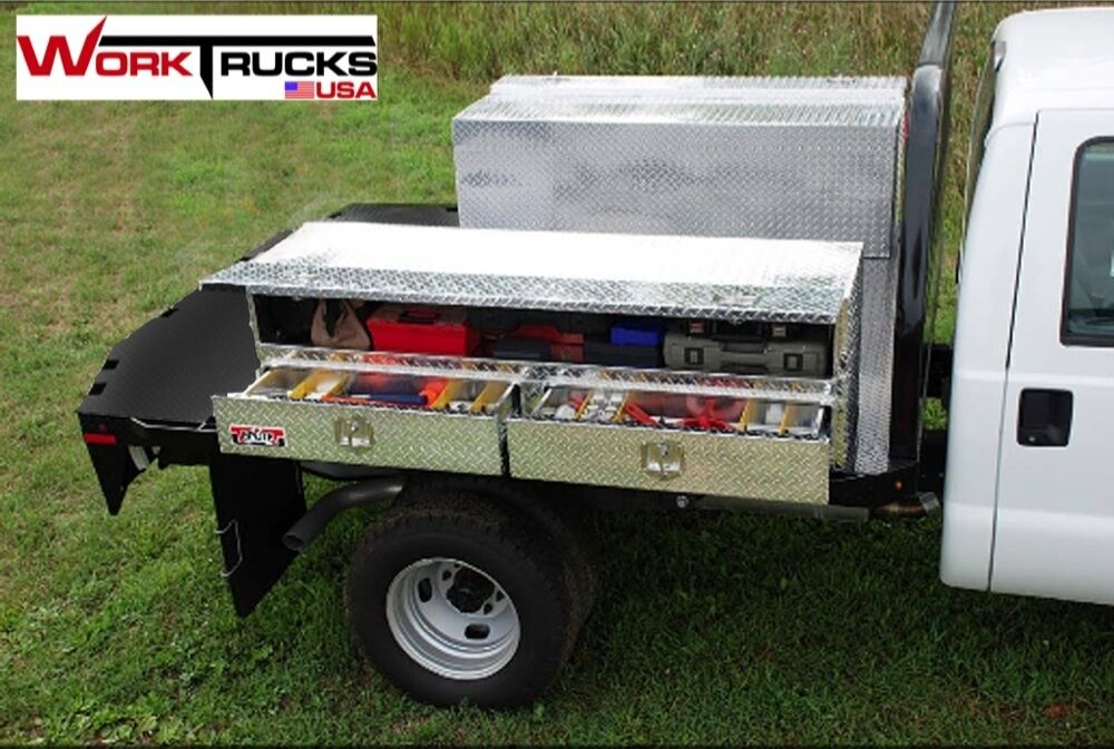 Truck tool box flat bed with drawers new 72 long ebay - Truck bed box drawers ...
