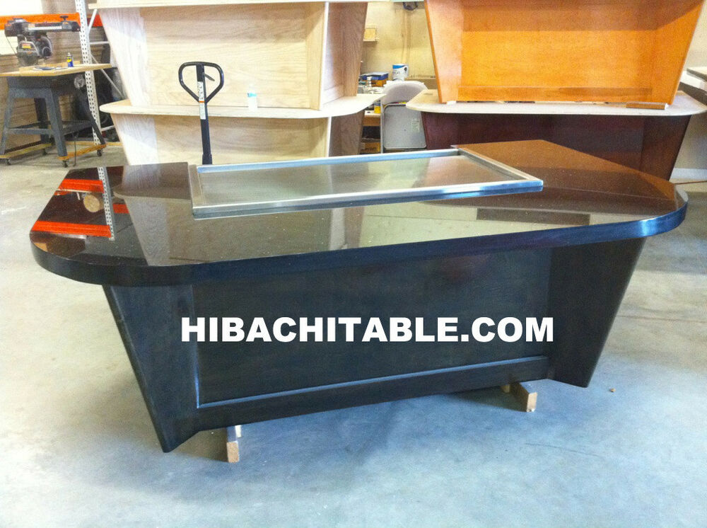 teppan table hibachi table teppanyaki grill tables brand new ebay. Black Bedroom Furniture Sets. Home Design Ideas