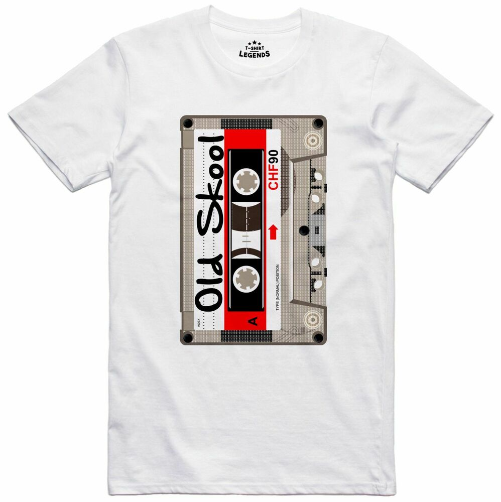 Audio cassette old skool music pop art design mens loose for Old skool house music