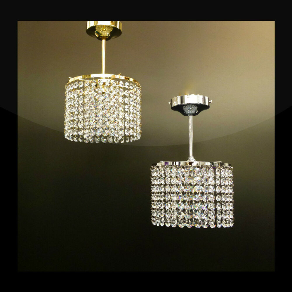Chrome, Gold, Brass Lead Crystal Chandelier Ceiling Light ...