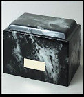 BLACK&WHITE MARBLE-FUNERAL URN-CREMATION-URNS