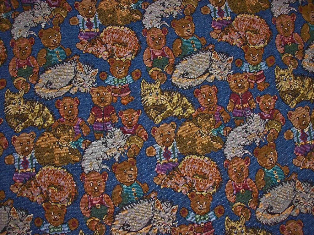 Kitty Cats Amp Teddy Bears Tapestry Upholstery 57 5 Quot Wide