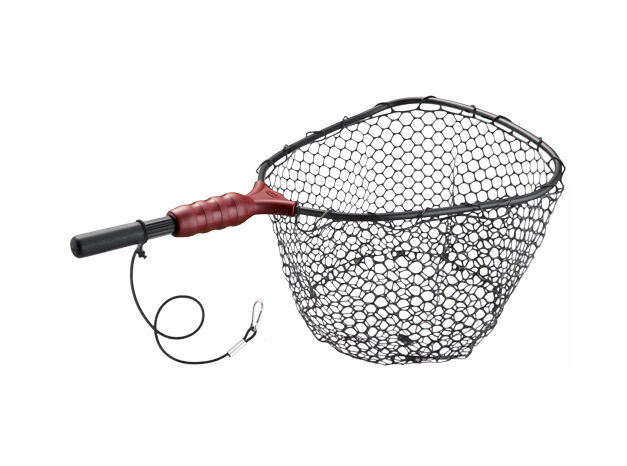 Ego wade medium rubber landing surf fish net 71266 for Rubber fishing nets