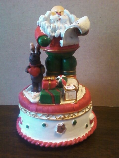 Santa claus music box ebay