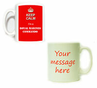 Personalised Keep Calm I'm a Royal Marines Commando Mug - gift bootneck