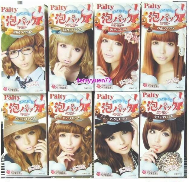 Dariya Palty Japan Trendy Bubble Hair Color Dye Dying Kit