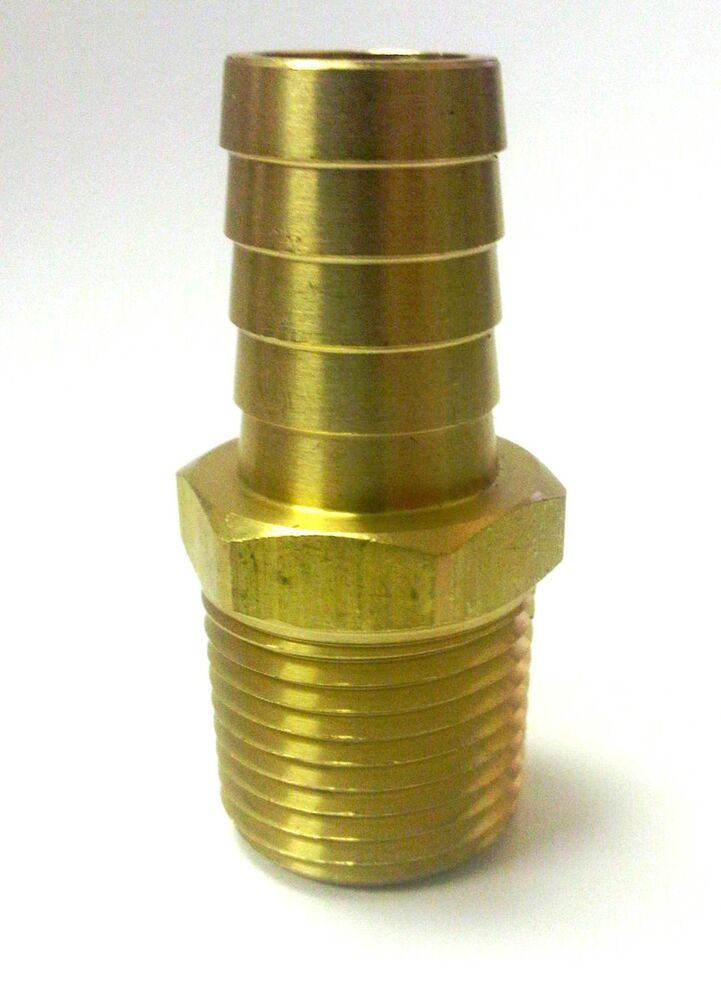 Pc brass fittings quot hose barb npt male straight