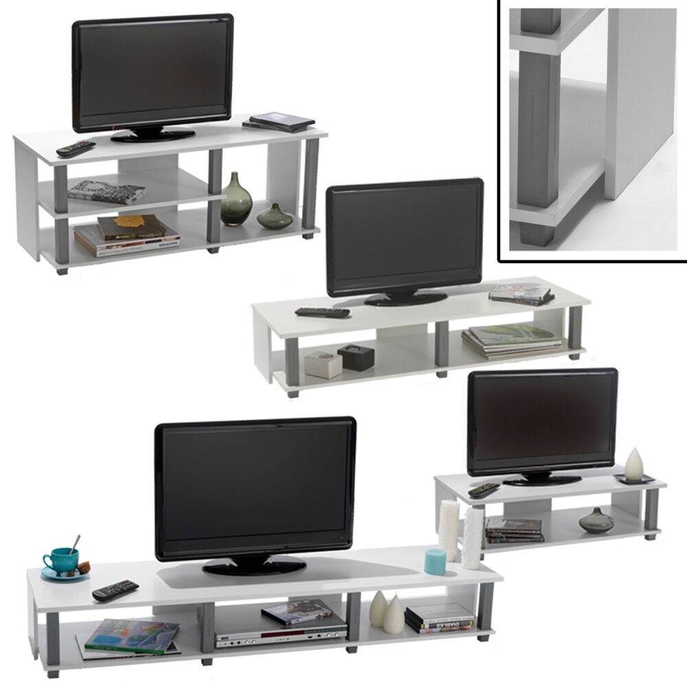 tv bank initial wei tv schrank phonom bel hifi rack tv regal bank fernseh tisch ebay. Black Bedroom Furniture Sets. Home Design Ideas