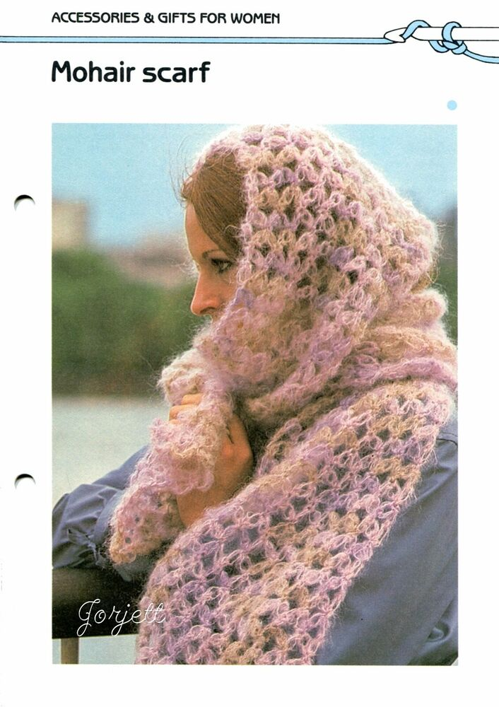 Crochet Scarf Pattern Easy Quick : Mohair Lacy Scarf, Quick & Easy crochet pattern eBay