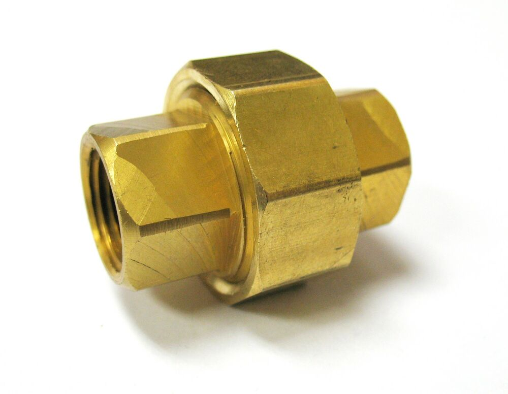 Pc piece union coupling brass pipe fitting quot npt air