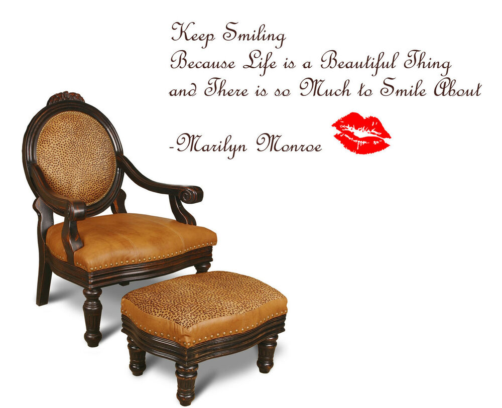 Keep Smiling Merlin MONROE Quote Wall Art Decal Sticker