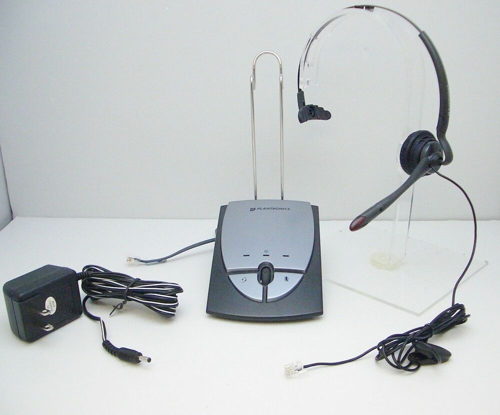 Plantronics s12 mono headband headsets for office desk telephone tested working 744664378555 ebay - Phone headsets for office ...