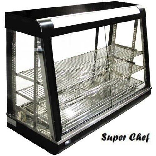 Glass Food Warmers ~ New heated food display warmer cabinet case quot glass on
