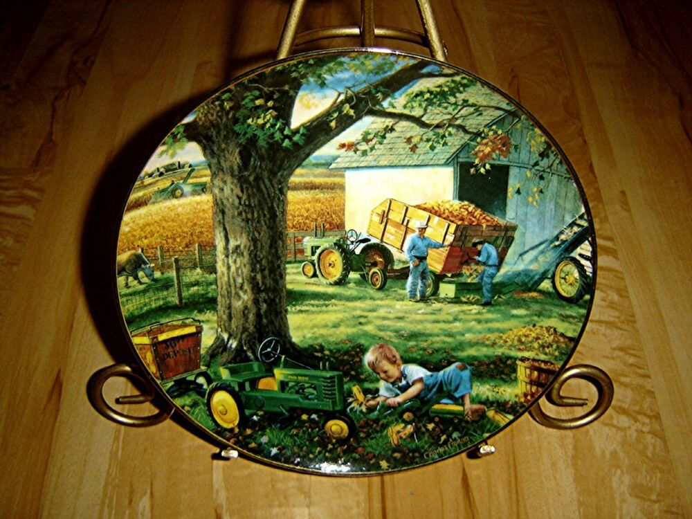 John Deere Plates : John deere life on the farm autumn memories charles