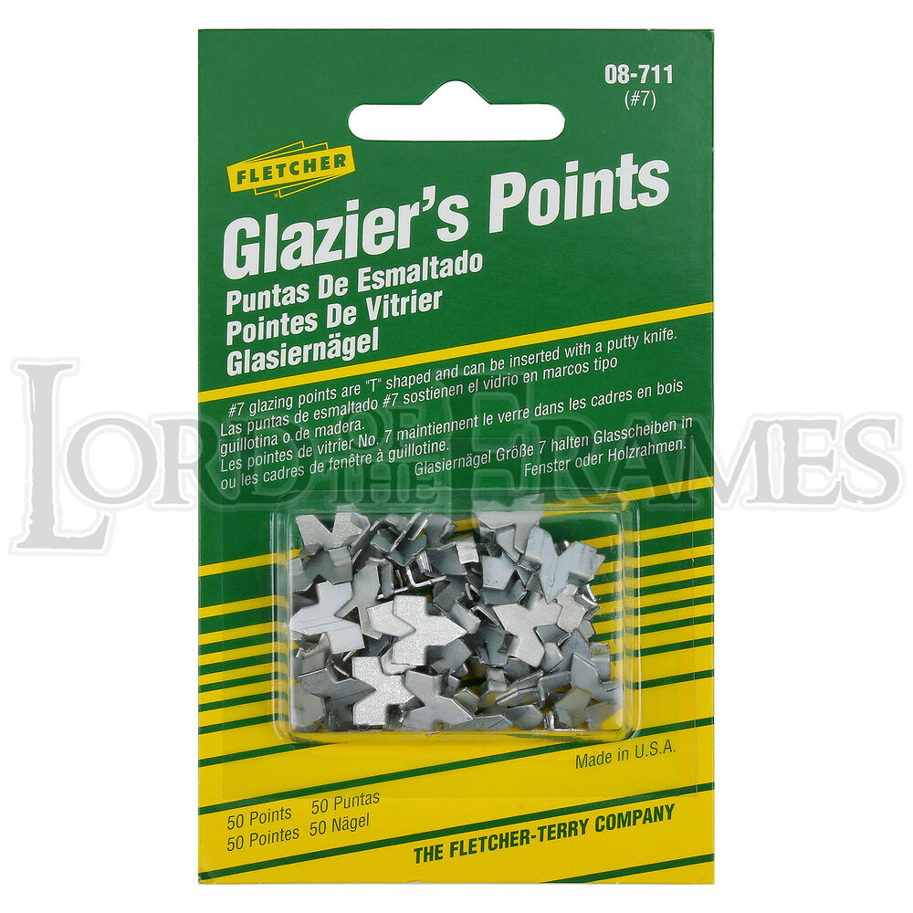 50 Fletcher PUSH POINTS Tabs for Picture Frame Framing / Window ...