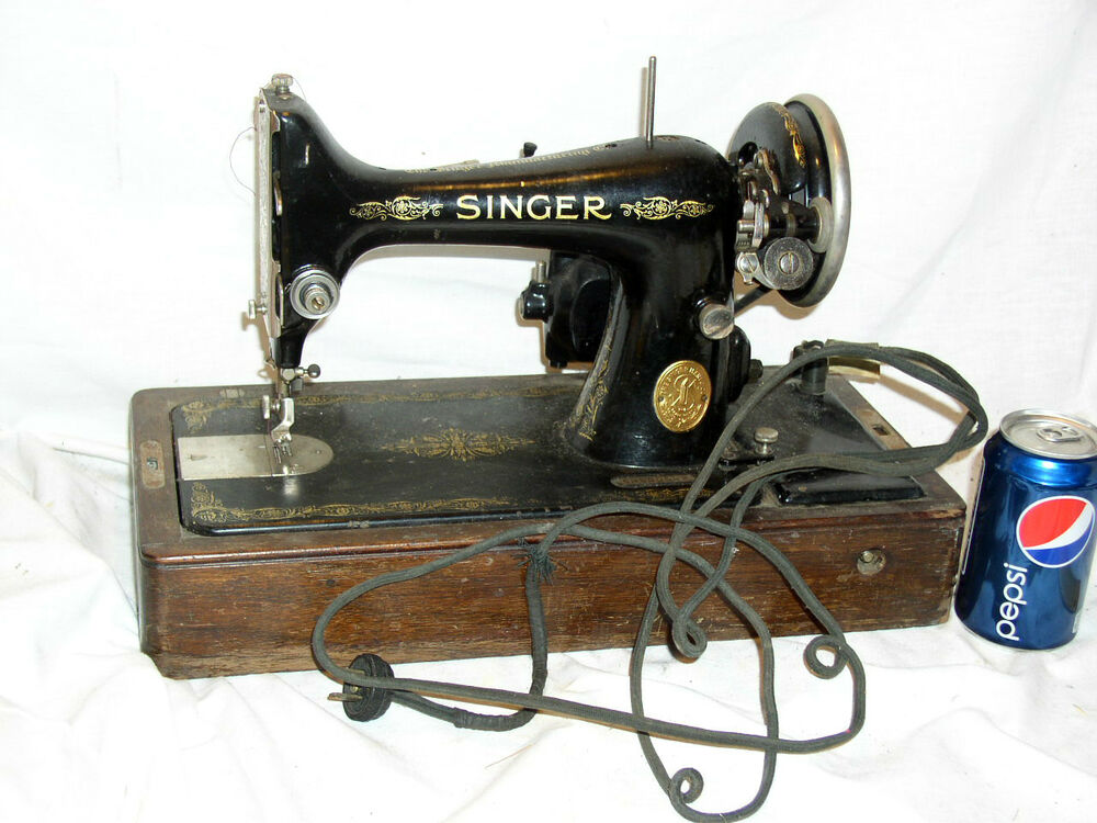 antique vintage 1927 ser ab800532 singer sew sewing machine w case ebay. Black Bedroom Furniture Sets. Home Design Ideas