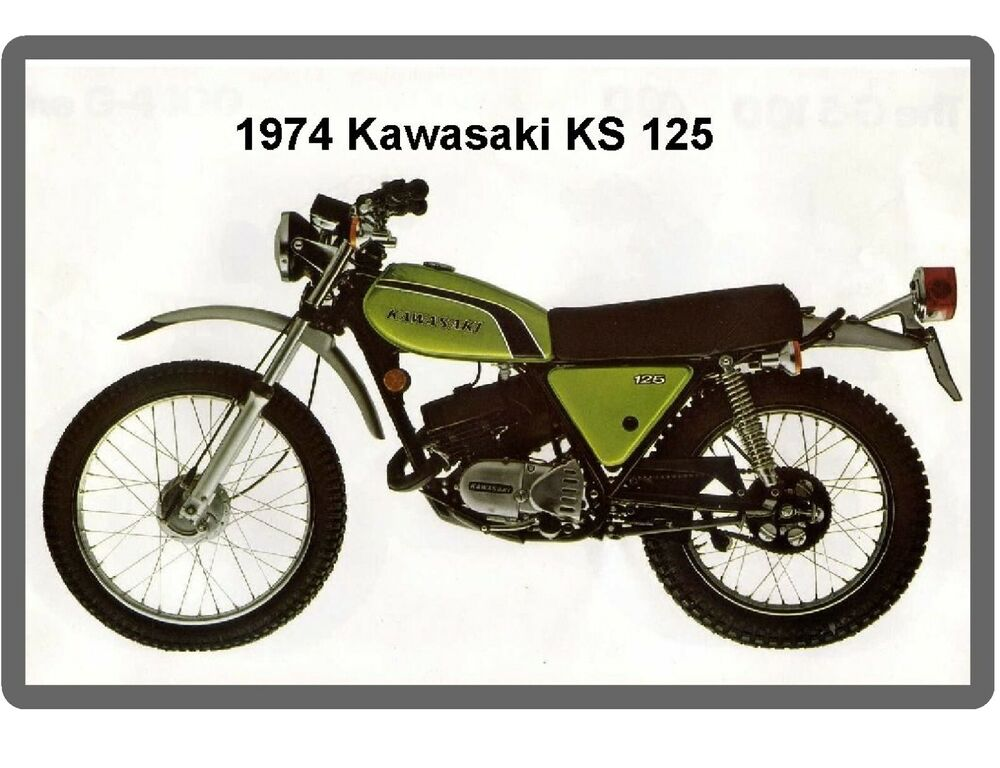 1974 kawasaki ks 125 motorcycle refrigerator tool box magnet ebay. Black Bedroom Furniture Sets. Home Design Ideas