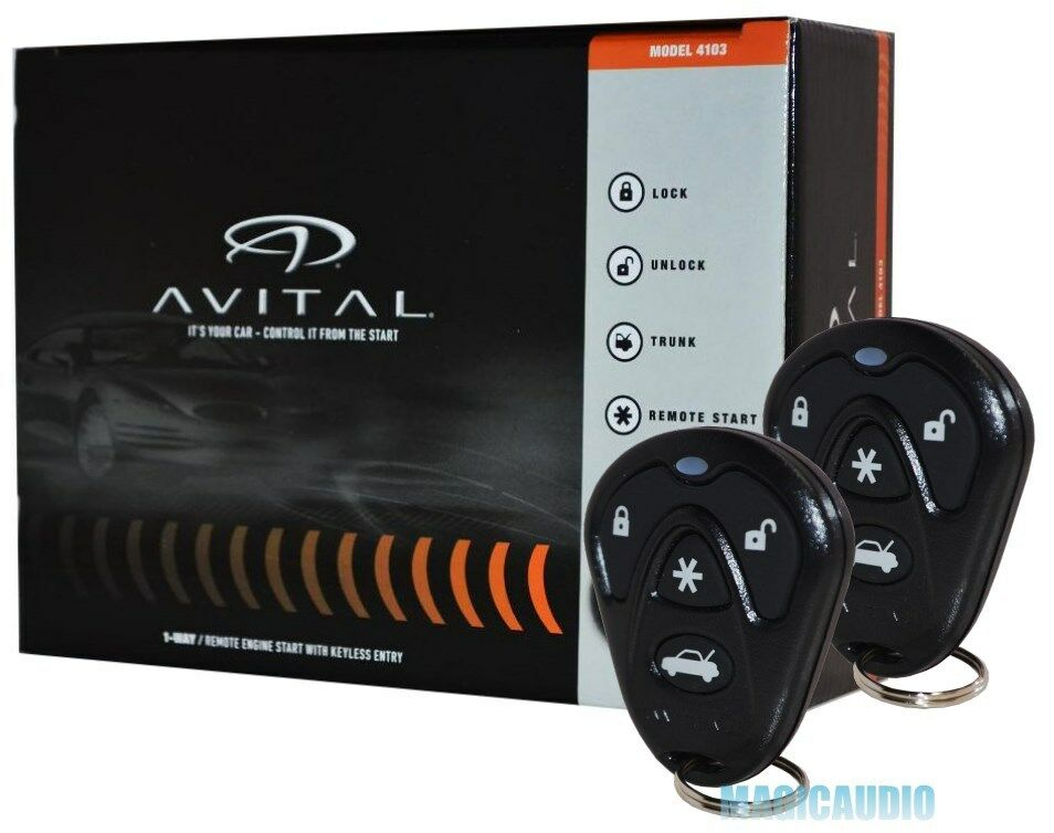 Avital 4103 Remote Start With Keyless Entry Avital 4105