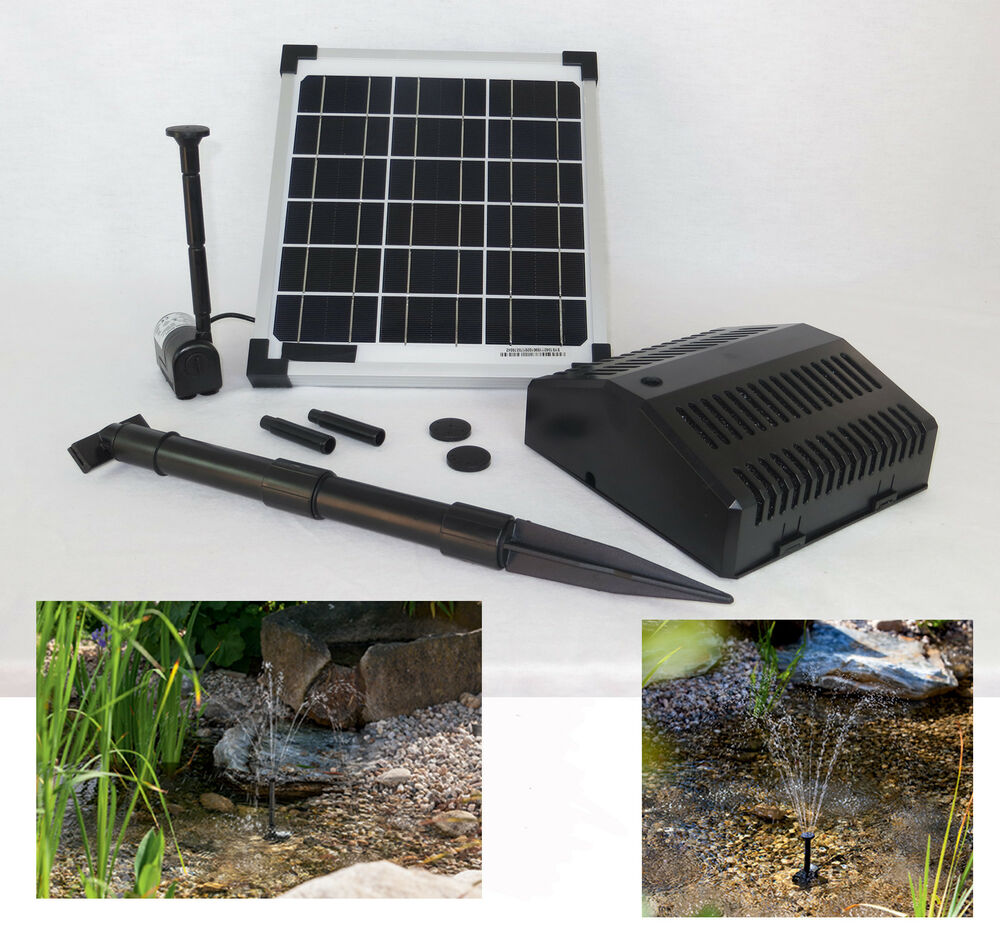 10 watt solarpumpe filter solar teichpumpe gartenpumpe. Black Bedroom Furniture Sets. Home Design Ideas