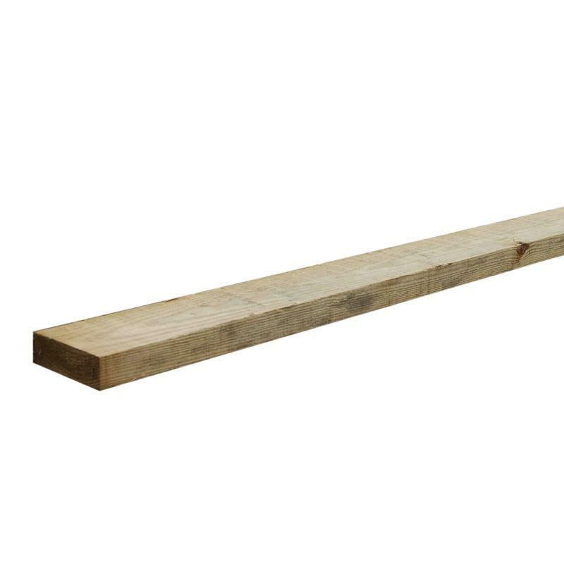Tanalised timber decking joists 47mm x 100mm x 4 x for Tanalised timber decking