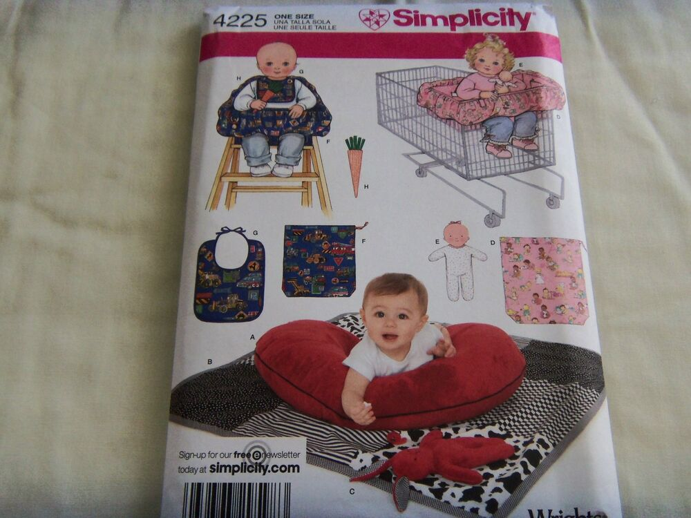 Simplicity Sewing Pattern Baby Quilt High Chair Seat Cover